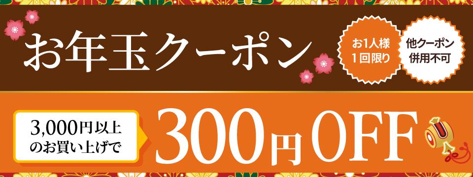 お年玉★クーポン【300円OFF】