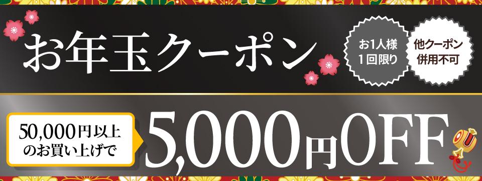 お年玉★クーポン【5,000円OFF】
