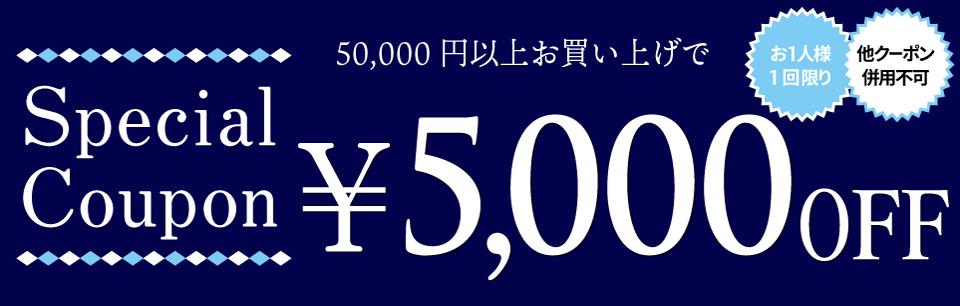 クーポン【5000円OFF】