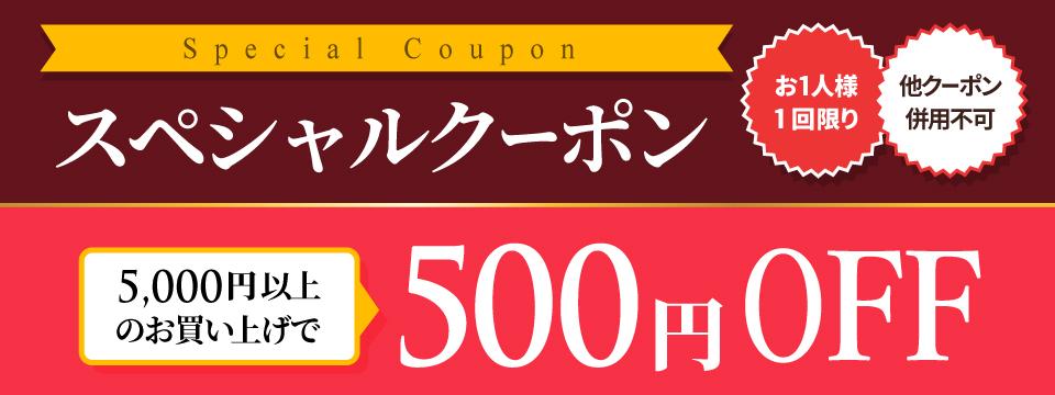 週末限定クーポン【500円OFF】