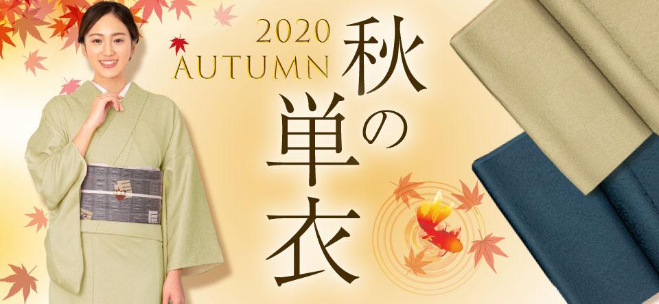 秋の単衣きもの